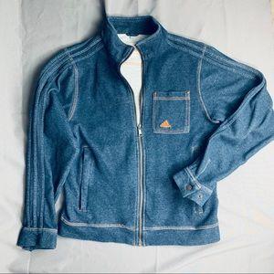 Adidas Sweatshirt Jean Jacket